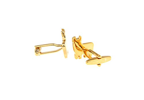 AMDXD Copper Cufflinks for Men Gold Cow Shirt Cufflinks Cufflink Men 1.7x1.6CM