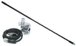 Solarcon 4ft Top Loaded Fiberglass CB Antenna Mirror Mount/Cable 750 Watt Black - Solarcon 214B (Solarcon Antenna)