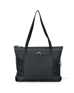 (Gemline Select Zippered Tote - Black )