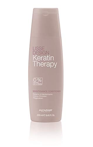 Alfaparf Milano Keratin Therapy Lisse Design Maintenance Conditioner - Sulfate Free - Maintains and Enhances Keratin Treatments - Professional Salon Quality - 8.45 Fl Oz