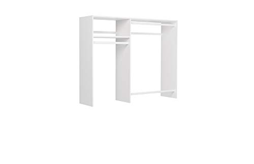 Easy Track 3'-5' W Basic Hanging Kit Closet Storage, White Easy Track Wire Basket