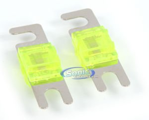 Kicker AFS100 100 Amp Platinum-Plated AFS Fuses with Color Coded Casing - Fuse Holder Anl Kicker