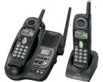 2.4 Ghz Dual Handset - Panasonic KX-TG2344B 2.4 GHz DSS Cordless Phone with Dual Handsets and Answering System