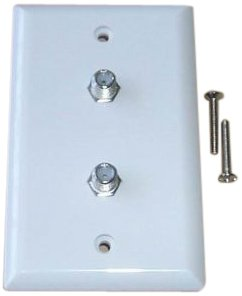 Blackpoint Products BBV-071-2 WHITE  Coaxial Wall Plate