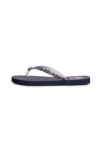 Tory Burch Flip Flops Shoes Sandals Flat Rubber (7, Clouded - Burch Leopard Tory