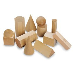 Nasco 12 Wooden Geometric Solids - TB12295 (Geometric Wooden Set Solids)