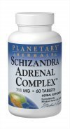 Planetary Herbals Schizandra Adrenal Complex Tablets, 60 Count by Planetary Herbals ()