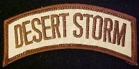 Desert Storm Tab Novelty Patch - Sew-On