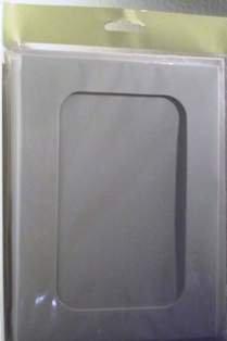A5 White Rounded Oblong Aperture Card Blanks & Envelopes (4 PACK) UK Card Crafts