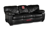 Imperial NCAA North Carolina State University Leather Classic Sofa, One Size, - Carolina Classic North Sofa