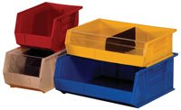 - Quantum QUS239 Plastic Storage Stacking Ultra Bin, 10-Inch by 8-Inch by 7-Inch, Yellow, Case of 6