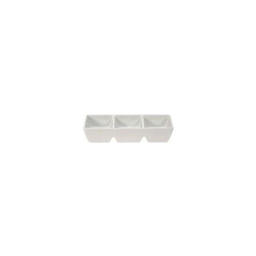 Vertex ARG-D3K Signature White 3-Compartment Sauce Dish - 36 / - Sauce Vertex