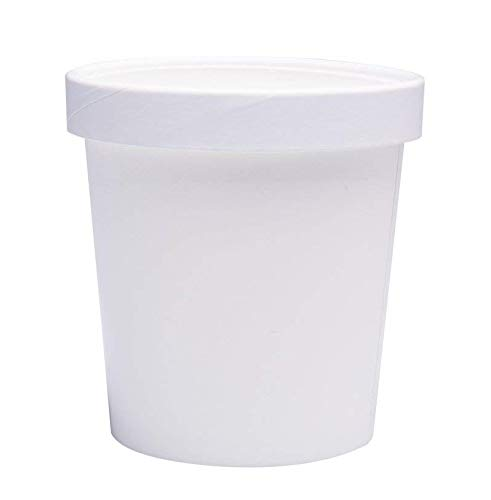 White Pint Frozen Dessert Containers 16 oz 25 Pack