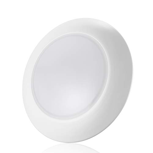 TORCHSTAR Dimmable LED Surface & Recessed Mount Downlight Kit, 85W Equivalent Disk Light for 3