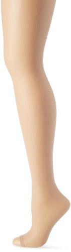 Hanes Silk Reflections Women's Lasting Sheer Control Top Toeless Pantyhose, Bisque, E/F
