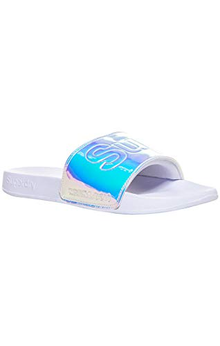 Holo white Zd3 Y De optic White Piscina Superdry Playa Zapatos Mujer Para Pool Slide Blanco 6qnx1wOS7
