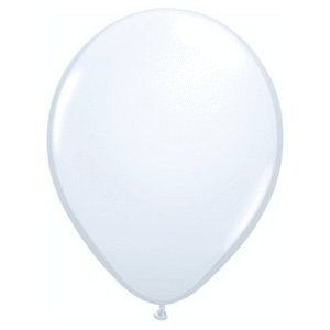 Qualatex Biodegradable 11 Inch Helium Quality White Balloons(Package of 100)