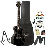 PRS S2 Single Cut Standard Black Electric Guitar with PRS Gig Bag, Stand, Tuner, Picks, Cable, Strap, Cloth, Polish, Cleaner