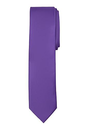 Jacob Alexander Boy's Regular Self Tie Prep Solid Color Necktie - Purple