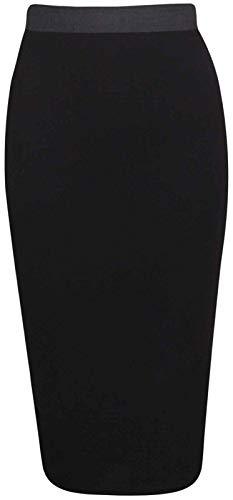 WITH STYLE Femme Noir Noir Uni RIDDLED Unique Taille Jupe pw5dqnO