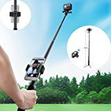 Phone Tripod, Sellemer Extendable and Adjustable Selfie Stick with Fexiable Stand Holder & Bluetooth Camera Remote for iPhone, Android Phone and Gopro Hero/ Akaso EK7000 Action Camera
