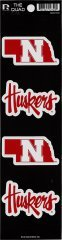 Rico NCAA Nebraska Cornhuskers Quad Decal (Ncaa Nebraska Cornhuskers Decal)