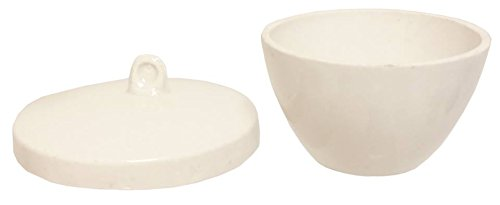 Crucible Low Form Porcelain 30 ml With Lid, 10 Pack by GSC International Inc. (Image #1)