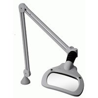 Magnifier Light, 6.75x4.5In, LED, Gry, 2.25X