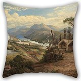 Alphadecor Pillowcase Of Oil Painting Charles Blomfield - Orakei Korako On The Waikato,for Dance Room,him,kids Girls,study Room,kids,car 18 X 18 Inches / 45 By 45 Cm(double Sides)
