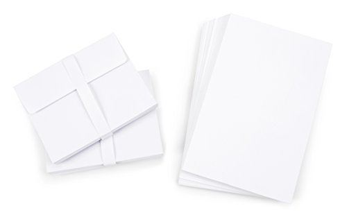 "Darice 1103-69 Blank Cards and Envelopes - White - 4.25"" x 5.5"" - 50 pcs - Value Pack"