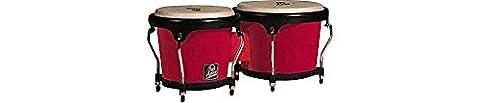 Latin Percussion LPA601F-RD LP Aspire Fiberglass Bongos - Red/Black (Lp Aspire Bongo Head)