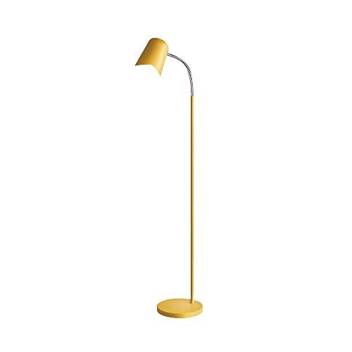 SH-63015,Modern Simplicity Floor Lamp,Yellow Metal Floor Light,Bedside Round Shape Reading Task Light for ()