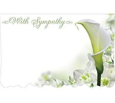 Lily Sympathy Card - 50ct. LILY FLOWER