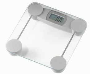 Hanson HX500 Glass Scale 25.4mm Silver LCD Electronic Bathroom Scales