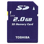 Toshiba 2GB High-Speed Type Secure Digital Memory Card by Toshiba