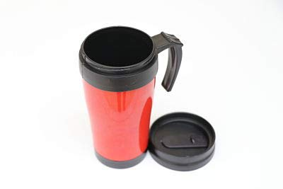 Hot Drink On The Go 14oz Insulated Coffee Mug (red) Perfect for Long Journeys Stylish, Light Weight & Easy to Clean Reusable Coffee Cup Travel Mug