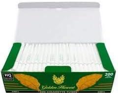 Golden Harvest Cigarette Filter Tubes Menthol-100mm, 200 tubes /Box, 1000 tubes/5 Boxes, 5 Boxes/Sleeve