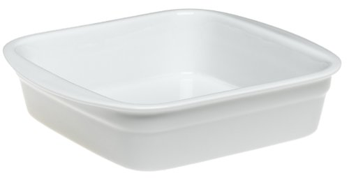 (Pillivuyt Porcelain 9-1/2-Inch Square Heavy-Duty Lasagne Baker )