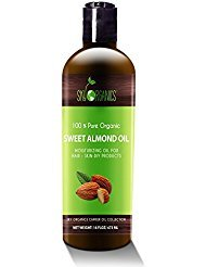 Best Sweet Almond Oil by Sky Organics 16oz- 100% Pure, Cold-Pressed, Organic Almond Oil. Great As a Baby Oil- Works Wonder On...