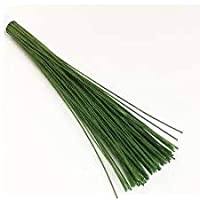 iCraft Green Floral Wire 24 Gauge Pack of 300 Wires for Floral Arrangements Flower Making and Baking Tools