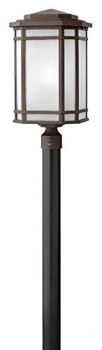 - Hinkley 1271OZ-WH-LED Cherry Creek - One Light Outdoor Post Top/Pier Mount, Choose Lamping Option: 15W LED