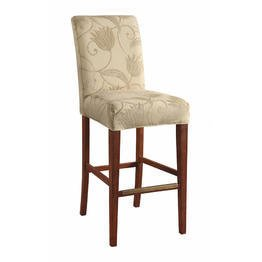 Bailey Street 6092977 Geister - Bar/Counter Stool Cover, Rubbed Bronze Finish with Cream Fabric Shade