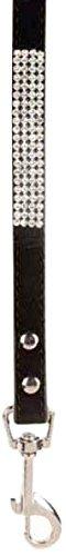 East Side Collection Velvet Rhinestone Lead, 4-Feet by 5/8-Inch, Black (East Side Collection Rhinestone)