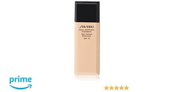 Amazon.com: Shiseido Sheer and Perfect SPF 15# B20 Natural Light Beige Foundation for Women, 1 Ounce: Health & Personal Care