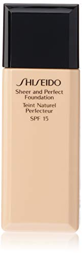 Shiseido Sheer and Perfect SPF 15# B20 Natural Light Beige Foundation for Women, 1 Ounce (Foundation Sheer Shiseido)