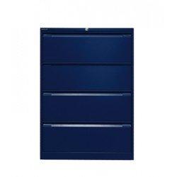Bisley df4-ap9–8011321x 800x 622A4Flush vorne doppelt Aktenschrank mit 4Schubladen–Oxford Blau