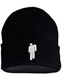 Billie Eilish Hot Topic Logo Beanie Knit Hat Stretchy Cap for Men Women Black