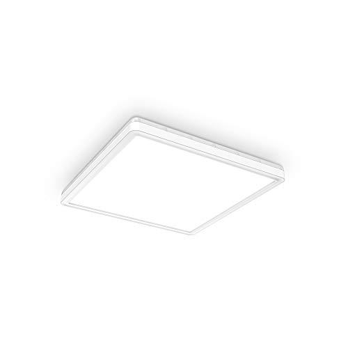 B.K.Licht I LED Paneel I plafondlamp I dimbare plafoniere I lampen dimbaar I ultra vlak I indirect licht I vierkant…