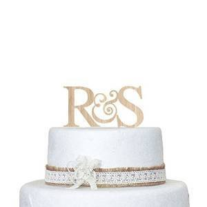 personalised wooden wedding cake toppers uk wedding cake topper custom any monogram wood cake topper 18259