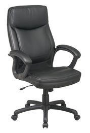 Executive Eco Leather Chair with Color Match Stitching Black (Chair Black Eco Leather)